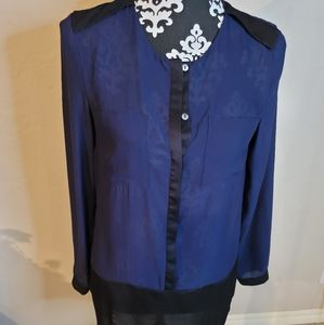 5 for $25💎H&M Navy Tunic Blouse Sz 6